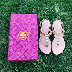 {Tory Burch} Thong Sandals Brand new, never been worn. No box but I'll ship them with the box I took pictures with. Please be familiar/know your own Tory Burch sizing. ❗️Price is firm, even when bundled❗️  ❌ No Trades/ No PayPal  ❌ No Lowballing  ✅ Bundle Discounts ✅ Ship Same or Next Day  % Authentic Tory Burch Shoes Sandals