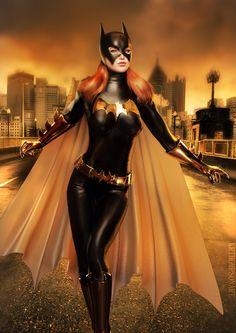Batman & The Dark Knights of Gotham Batgirl Cosplay, Batman And Batgirl, Dc Cosplay, Dc Comics Girls, Batman Artwork, Superhero Villains, Barbara Gordon, Female Hero, Batman Universe