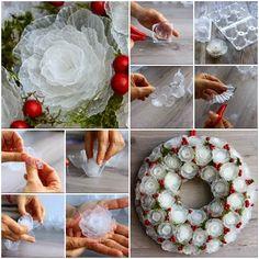 Come realizzare una ghirlanda natalizia con la plastica dei contenitori uova