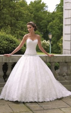 elegant wedding gown sweetheart - Google Search