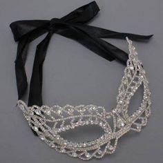 Rhinestone Crystal Masquerade Mask- Masquerade Wedding on Etsy, $60.00