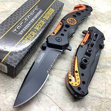 TAC-FORCE Orange EMT Rescuse Tactical Spring Assist Hunting Outdoor Pocket Knife