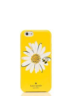 jeweled daisy iphone 6 case, yellow/multi, large