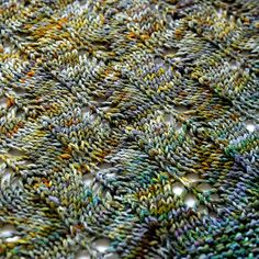 Lovely stitch pattern. Free download for  baby blanket by Hedgehog Fibres, via Flickr
