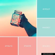 Pastel | Blue And Pink | Sunset and Sunrise |Color Palette Inspiration. | Digital Art Palette And Brand Color Palette.