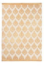 Jotex Valkoinen/kulta TARANTO-puuvillamatto 130x190 cm