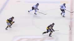 Amazing pass, and it doesn't even involve a puck!