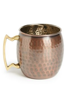 This burnished copper mug will be a big hit with Dad.
