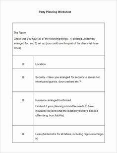 Church Event Planning Worksheet Fresh 5 Event Planning Worksheet