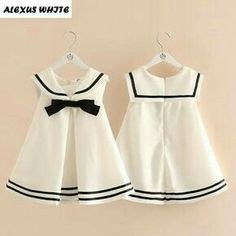 Cheap brand girl dress, Buy Quality girls brand dress directly from China girls dress Suppliers: Baby Bow Girl Dress Sailor Collar 2017 Summer Kids Children Student Wind Dresses Clothing Toddler Princess Brand Quality Frocks For Girls, Kids Frocks, Little Dresses, Little Girl Dresses, Girls Dresses, Baby Dress Design, Baby Girl Dress Patterns, Baby Frocks Designs, Sailor Dress