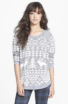 Free shipping and returns on Chaser 'Ski Lodge' Pullover at Nordstrom.com. Antlered reindeer rendezvous at a snow-kissed tree on this luxuriously soft fleece sweatshirt featuring fleece details at the shoulders.
