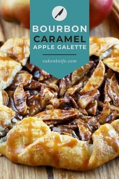 A Bourbon Caramel Apple Galette is how to do pie, the easy way. The rustic dessert is filled with a spiced apple mixture, wrapped up in the perfect homemade crust, and topped with a luscious bourbon caramel. You may never go back to those double-crust pies again... | cakenknife.com #caramelrecipe #caramelapple #caramelapplepie Spiced Apples, Caramel Apples, Pulled Chicken Sandwiches, Apple Galette, Cake Recipes, Dessert Recipes, Best Apple Pie, Galette Recipe, Homemade Pastries