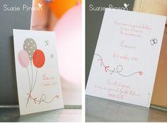 Faire part, carte, invitation, ballon