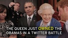 The Queen just OWNED Barack and Michell Obama in a video twitter battle