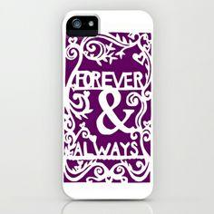 Forever & Always - Purple iPhone & iPod Case by Rachel Winkelman - $35.00