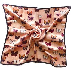 GIVENCHY Scarf, Vintage Silk Scarf, High Fashion, Paris, Butterfly,... ($54) ❤ liked on Polyvore featuring accessories, scarves, vintage scarves, vintage silk scarves, vintage shawl, pink shawl and pure silk scarves