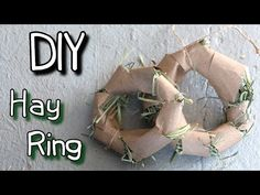 How to Make Homemade Rabbit Toy Hay Ring DIY Tutorial - YouTube