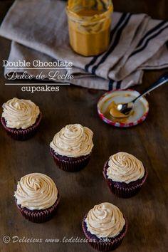 Double Chocolate Dulce de Leche Cupcakes