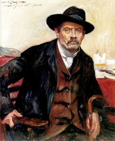 Lovis Corinth (Friedrich Heinrich Louis, German 1858–1925)     Self Portrait in a Black Hat, 1911