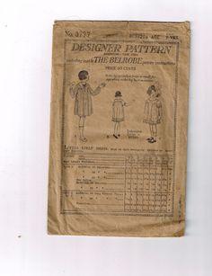 Vintage Designer Pattern Dress Pattern Early 1920's Little Girls' Dress | eBay