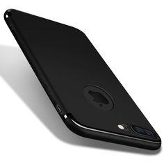 スリムシリコーンcase用iphone 7 6 6 sプラス5 5 s seカバーcoque candy色黒シェルソフトppマット電話ケースfundas
