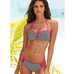 Striped Halter Bikinis Women Swimwear Vintage Brazilian Bikini Pad Swimsuit Bathing Suit Biquinis Maillot de Bain Femme