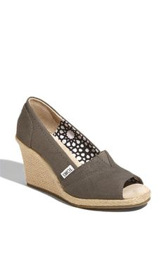 TOMS 'Calypso' Canvas Wedge | Nordstrom