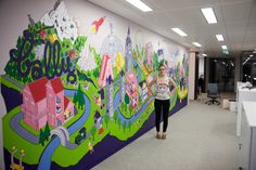 LABELUX-LANDIA mural by justine potin, via Behance