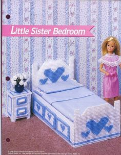 Little Sister Bedroom Stacie Fash. Doll Plastic Canvas Pattern - 30 Days to Pay picclick.com