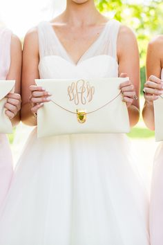 monogram clutch | Robyn Van Dyke #wedding