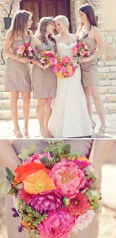 Kind of loving the neutral dresses. Perfect for my future fall wedding without going too crazy!