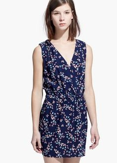 Butterfly print dress - Dresses for Women   MANGO