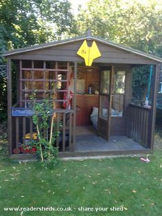 Simon's Garden Bar -Pub/Entertainment from Hertfordshire owned by Simon Smith Backyard Bar, Backyard Sheds, Man Cave Shed, Shed Of The Year, Pub Sheds, Bar Shed, Home Pub, Backyard Paradise, Woman Cave