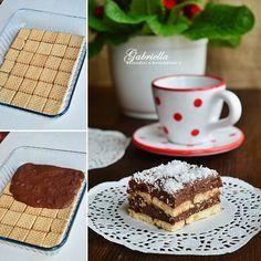 Kókuszos-kakaókrémes rakott keksz - sütés nélkül #nobake #dessert