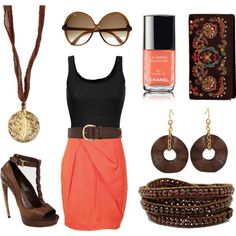 Taking it tribal - earthy summer coral and brown compilation of great pieces!