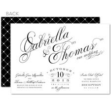 Promising Harmony Vintage Wedding Invitations