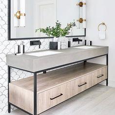 "33 Likes, 1 Comments - Exclusiv Kitchens & Bathrooms™ (@exclusivkitchensbathrooms) on Instagram: ""Thursday bathroom inspo✨ Crushing hard on this gorgeous vanity! #notourimage #bathroominspo…"""