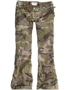 Camouflage Cotton Women's Long Pants