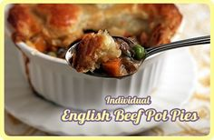 Individual English Beef Pot Pies with Puff Pastry - Recipe with pics!