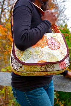Mirabelle Messenger Bag PDF Sewing Pattern by ZaaBerry on Etsy