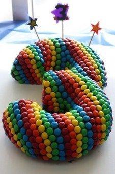 Sitefan de gâteau d'anniversaire tout en couleurs