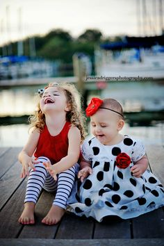 Love this shot of the kids on a dock.