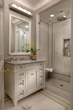 John B. Murray; Architect - I like the shower seat and the outline in the tile on shower walls
