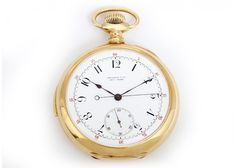 Vintage Tiffany 5 Minute Repeater 18k Yellow Gold Open Face Pocket Watch