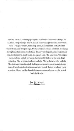 Quotes Rindu, Story Quotes, Text Quotes, People Quotes, Mood Quotes, Life Quotes, Sabar Quotes, Cinta Quotes, Quotes Galau