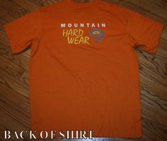 Mountain Hardwear T-Shirt Organic Cotton Hard Wear Men's L hike/camp/climb/bike #MountainHardwear #GraphicTee