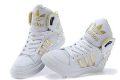 2014 New Adidas high-top shoes for women white gold on sale,for Cheap