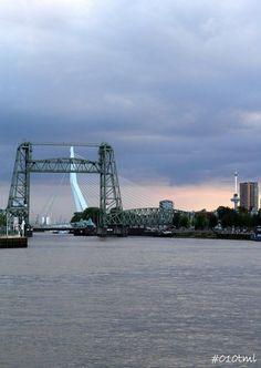 The Lift Bridge and The Swan Bridge, Rotterdam. #greetingsfromnl