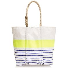 Sea bags® for J.Crew in Lemon Zest... Perfect tote for summer & made from reclaimed sails so each is unique!