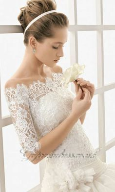 Actually really like the lace sleeves. The scalloping at the top is also pretty perfect.